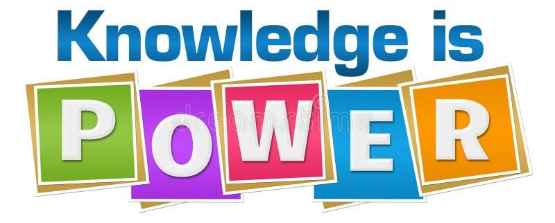 De kennis is Machts Kleurrijke Blokken royalty-vrije illustratie