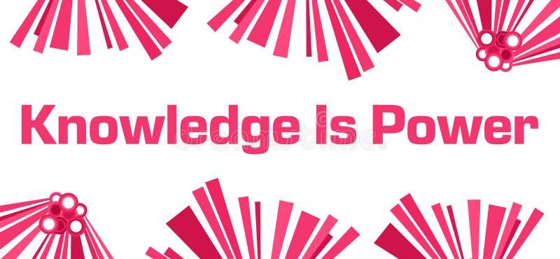 De kennis is Machts Roze Abstract Wit stock illustratie