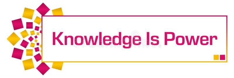 De kennis is Machts Roze Gouden Cirkelbar vector illustratie