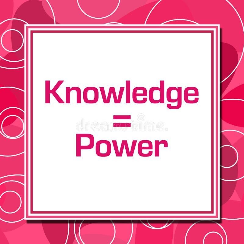 De kennis is Vierkant van Machts het Roze Ringen stock illustratie