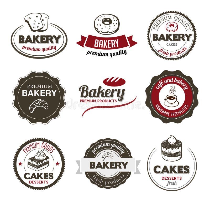 De Kentekens van de bakkerij vector illustratie