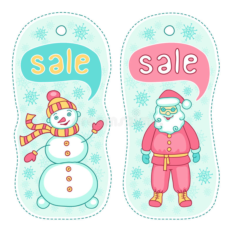 De kentekens van de Kerstmisverkoop stock afbeelding