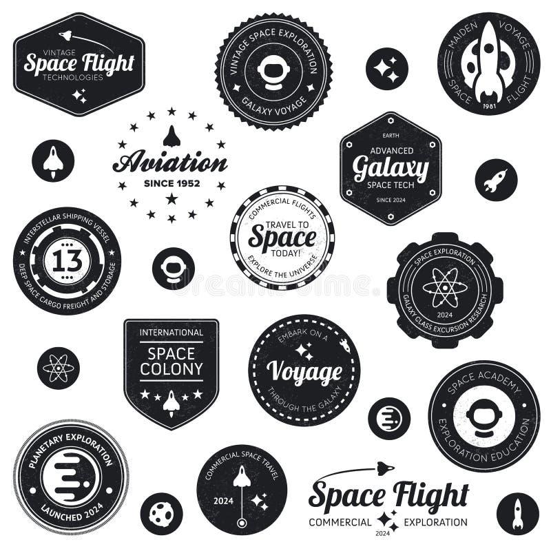 De kentekens van de ruimtevaart royalty-vrije illustratie