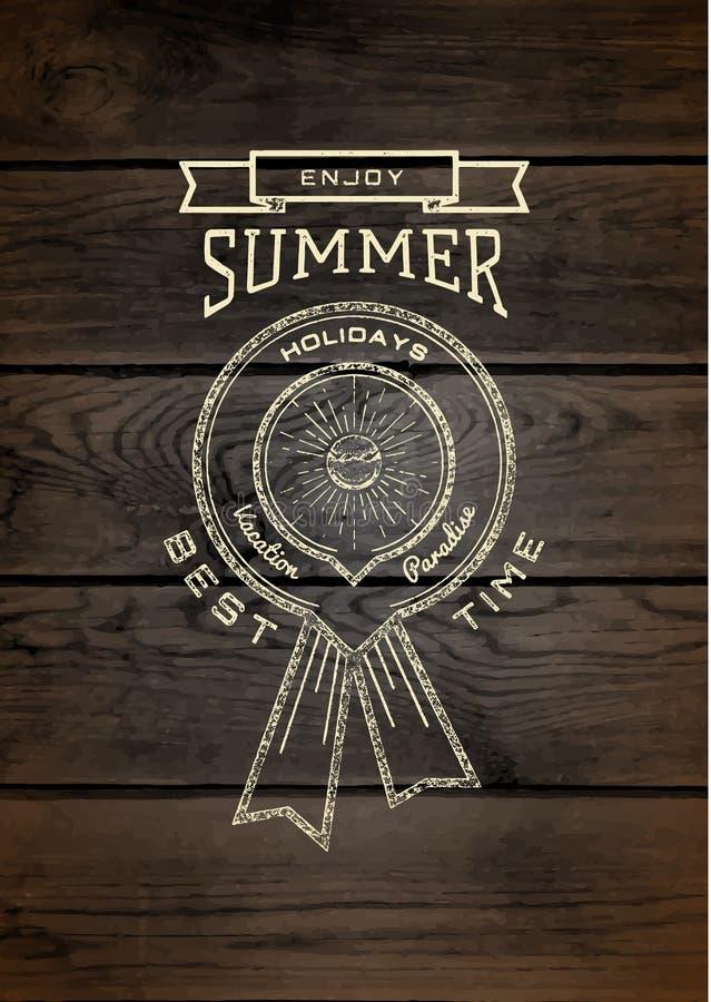 De kentekensemblemen en etiketten van de de zomervakantie voor om het even welk gebruik stock illustratie