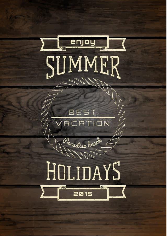 De kentekensemblemen en etiketten van de de zomervakantie voor om het even welk gebruik vector illustratie