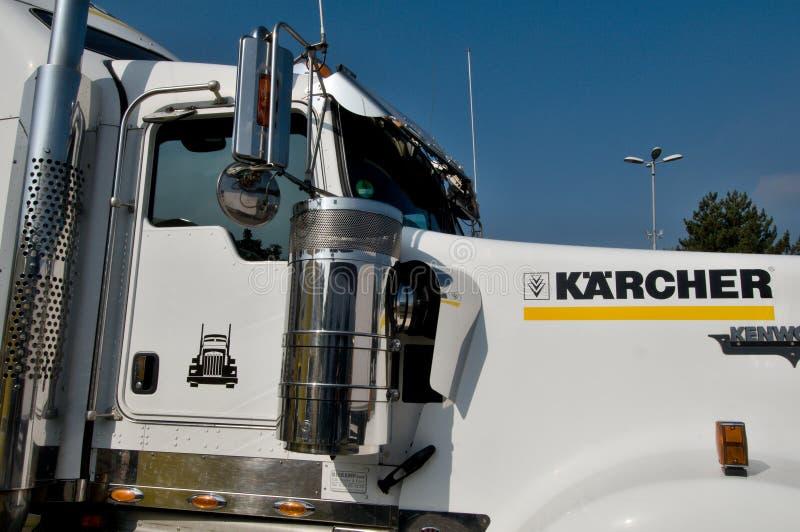 De Kenworth del kilovatio camión semi fotos de archivo libres de regalías