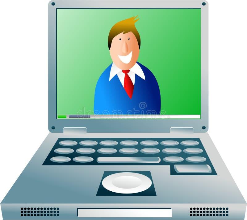 De kerel van de computer stock illustratie