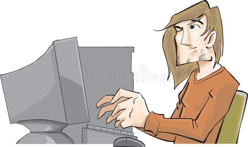 De kerel van de computer royalty-vrije illustratie