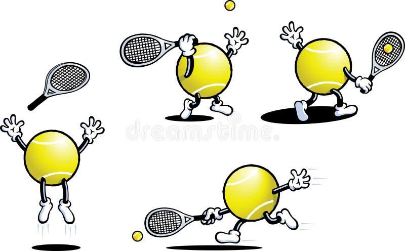 De Kerel van het tennis vector illustratie