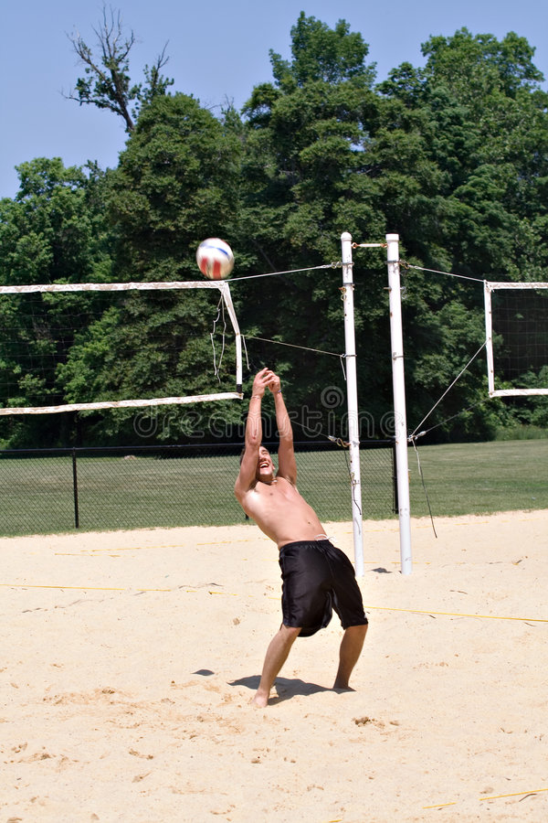 De Kerel van het volleyball stock foto