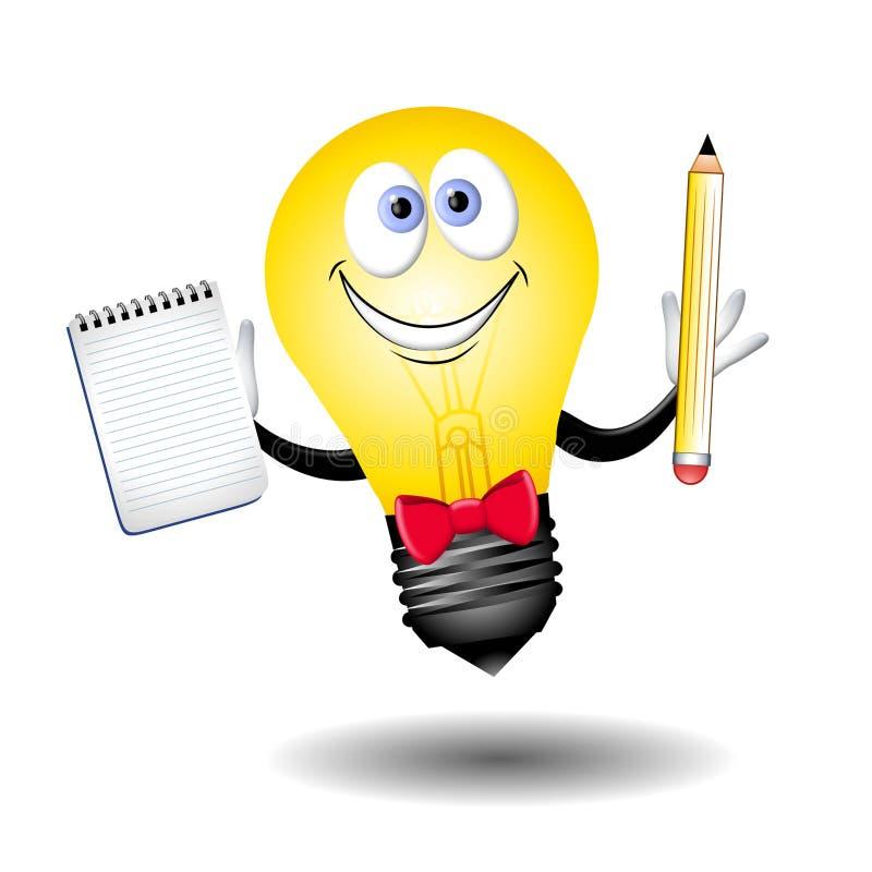 De kerel van Lightbulb van het Idee vector illustratie