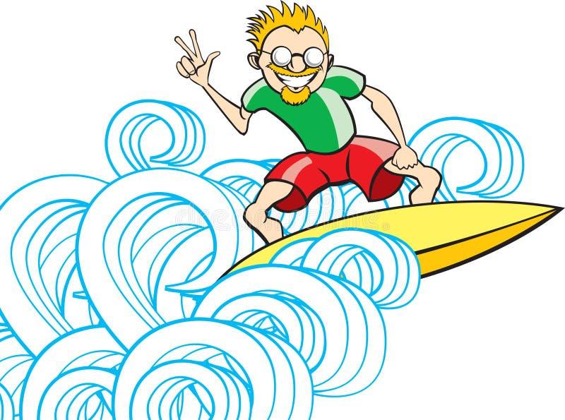 De Kerel van Surfer royalty-vrije illustratie