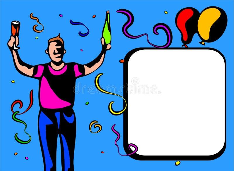 De kerelframe van de partij royalty-vrije illustratie