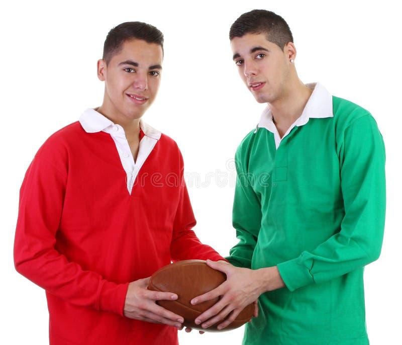 De kerels van het rugby stock afbeelding