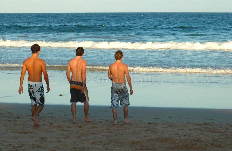 De Kerels van het strand royalty-vrije stock foto