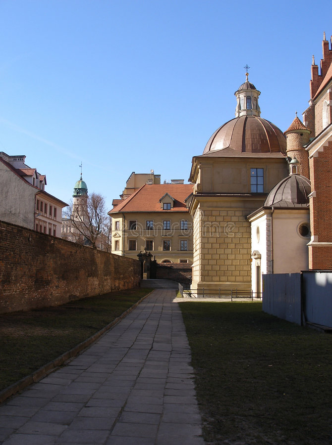 De kerk Boze Cialo in Krakau stock afbeeldingen