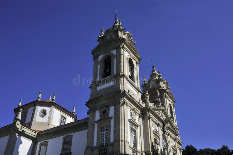 De kerk Braga Portugal van Bomjesus stock foto's