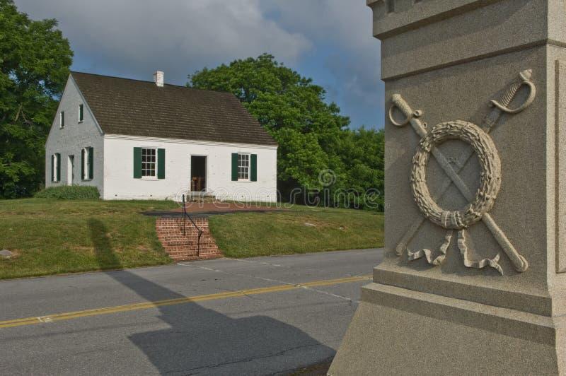 De Kerk en het Monument van de Burgeroorlog royalty-vrije stock foto
