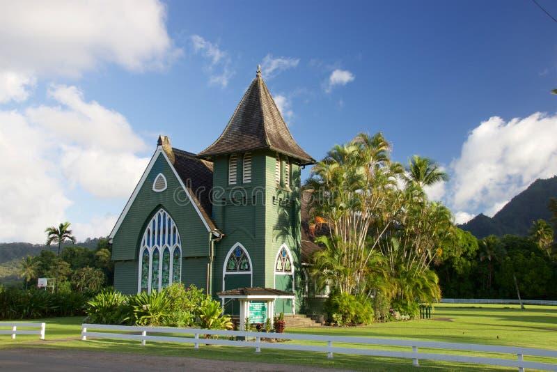 De Kerk Hanalei van Waiolihuiia stock foto