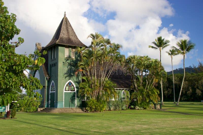 De Kerk Hanalei van Waiolihuiia royalty-vrije stock afbeelding
