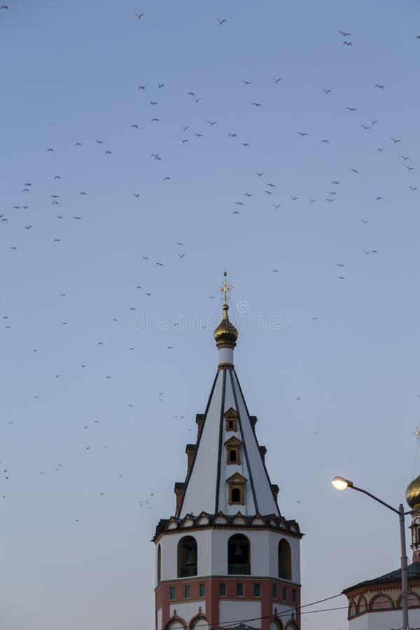 De kerk in Irkoetsk, Russische federatie royalty-vrije stock foto's