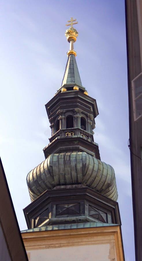 De kerk jesuits kruis van Wenen Oostenrijk stock afbeeldingen
