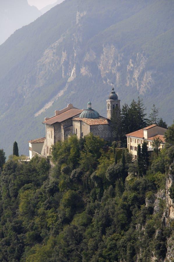 De kerk Madonna Di Monte Castello van de bedevaart stock afbeelding
