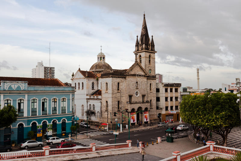 De Kerk Manaus Brazilië van San Sebastian royalty-vrije stock fotografie