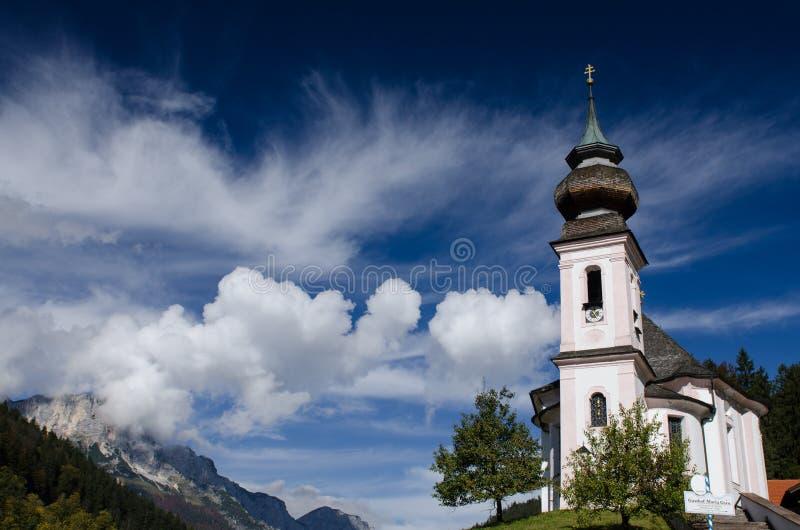 De kerk Maria Gern van de bedevaart stock foto's