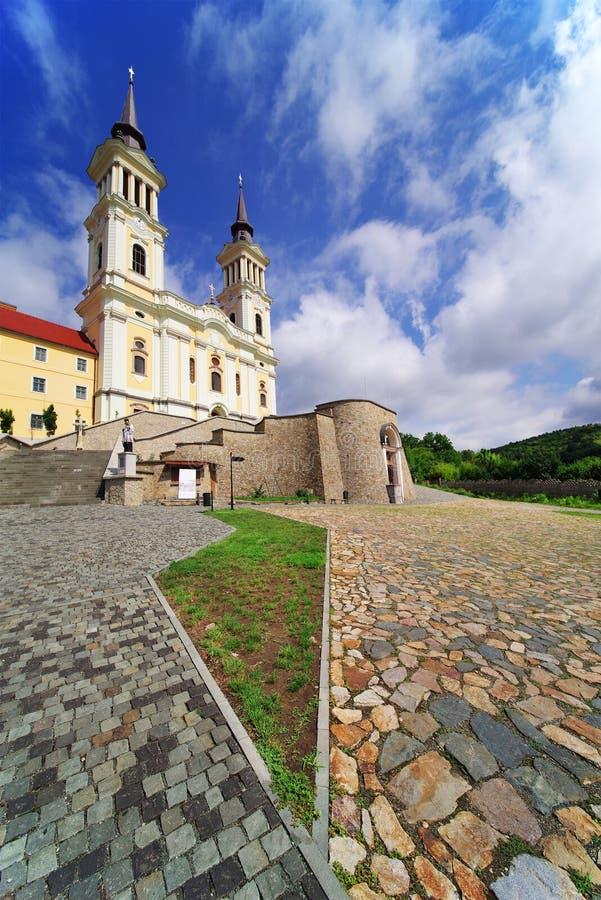 De kerk Maria Radna, ter ere van Heilige Maagdelijke Mary, Radna, Arad wordt gezegend die royalty-vrije stock foto's
