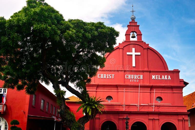 De Kerk Melaka van Christus stock fotografie