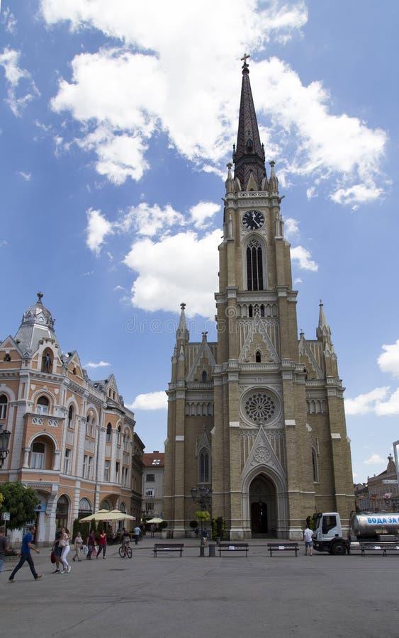 De kerk in Novi Sad, Servië royalty-vrije stock foto's