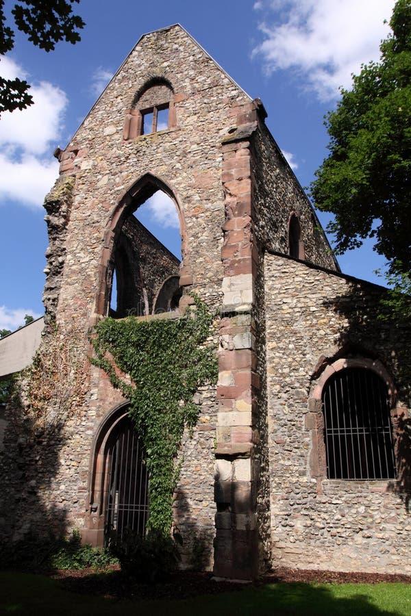 De kerk St. Christoph in Mainz stock foto's