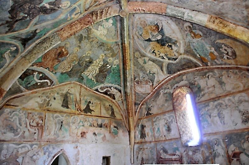 De kerk van alle-heiligen, Ludrovà ¡ - muurpaitings royalty-vrije stock foto