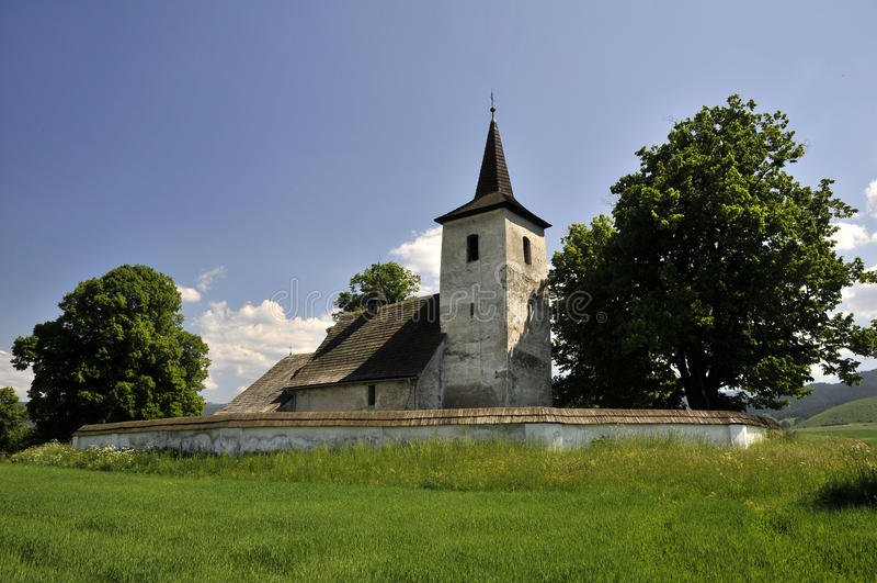 De kerk van alle-heiligen, Ludrovà ¡ - Slowakije royalty-vrije stock fotografie