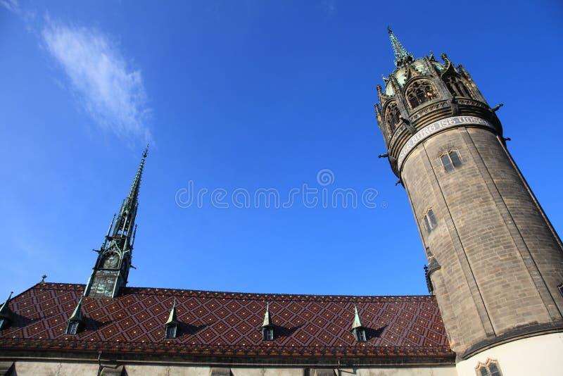 De kerk van alle heiligen, Wittenberg, Duitsland royalty-vrije stock fotografie