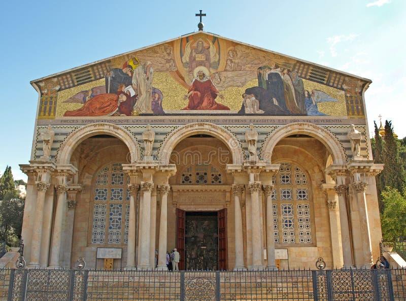 De kerk van Alle Naties stock afbeelding