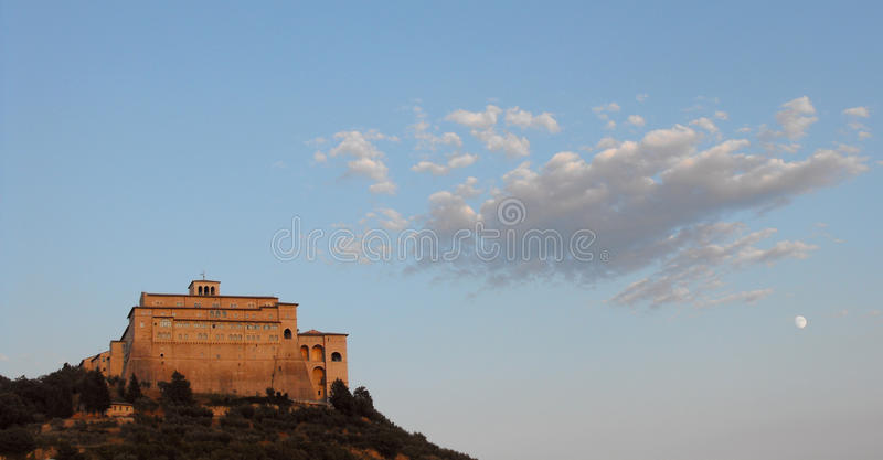 De kerk van Assisi royalty-vrije stock afbeelding
