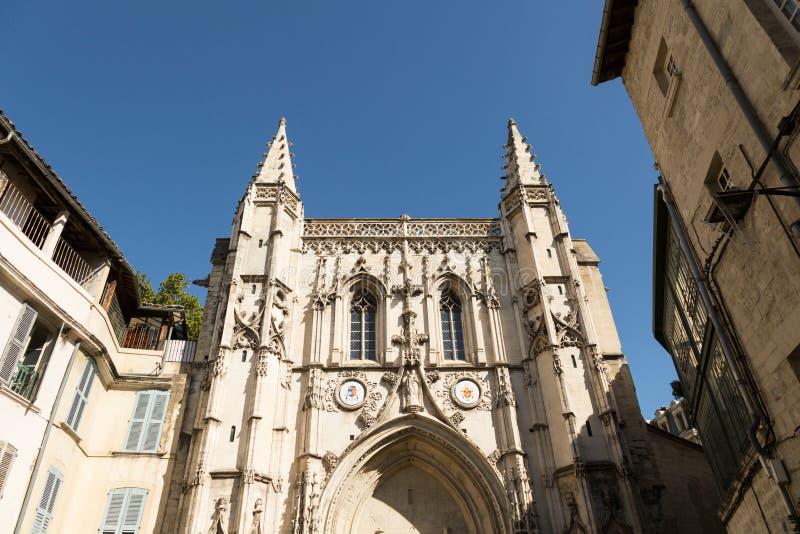 De kerk van Avignon, Frankrijk stock foto