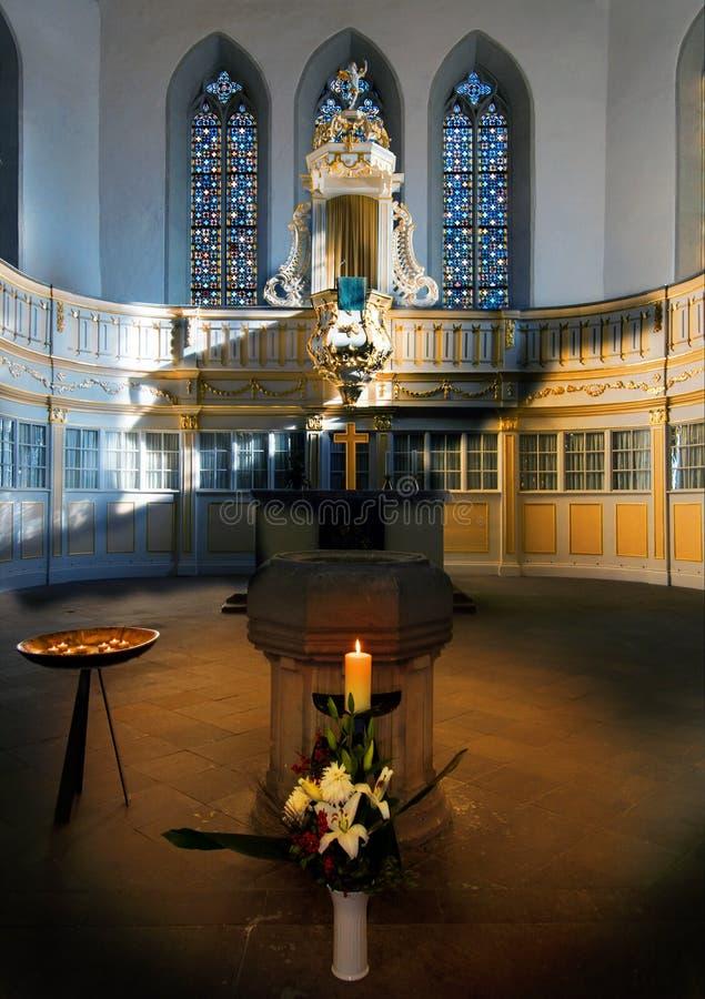 De Kerk van Bach, Arnstadt, Thuringia, Duitsland stock fotografie
