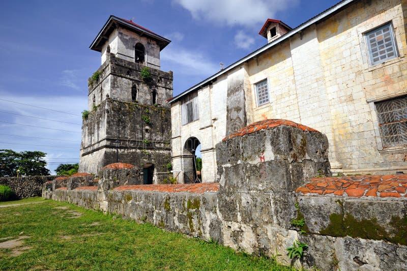 De Kerk van Baclayon, Bohol, Filippijnen royalty-vrije stock afbeelding
