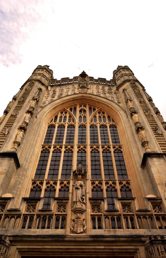 De kerk van de badabdij in Bad, Somerset, Engeland stock foto's