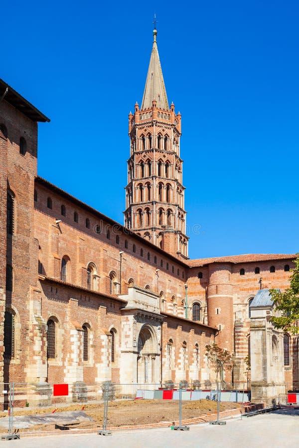 De kerk van basiliekheilige Sernin, Toulouse royalty-vrije stock fotografie