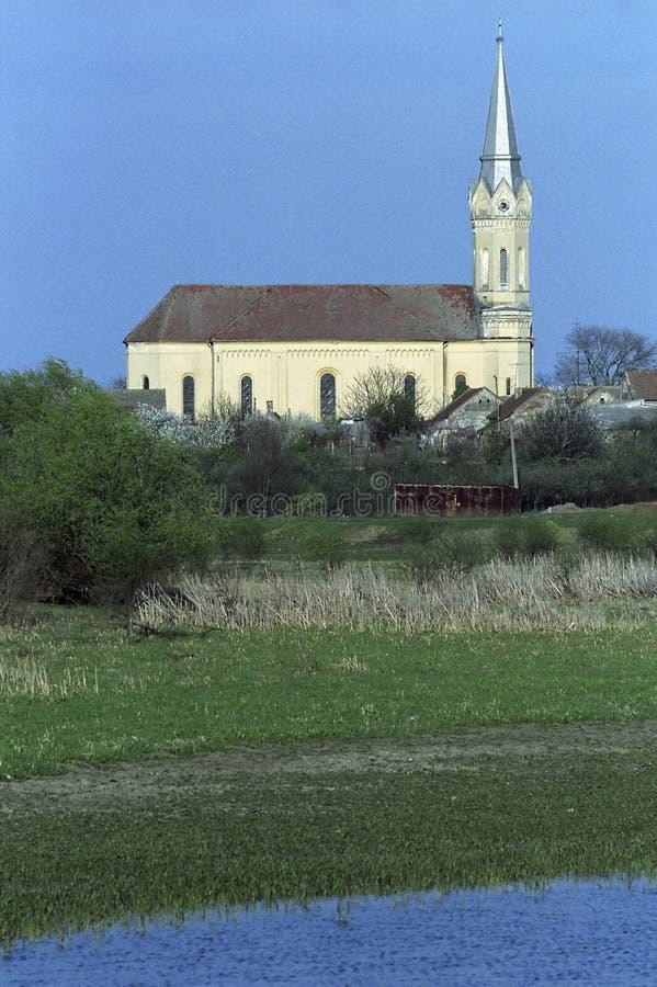 De Kerk van Bodrog stock foto
