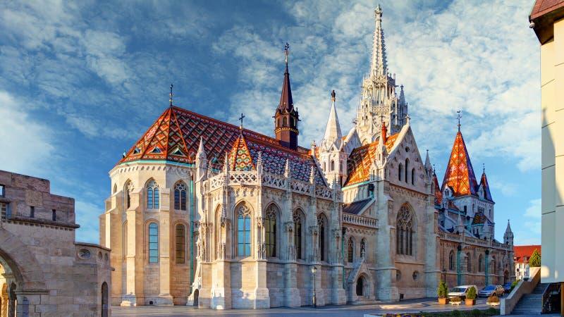 De kerk van Boedapest - van Matthias stock afbeeldingen