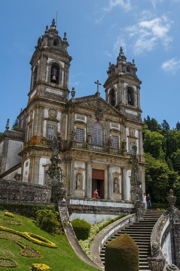 De kerk van Bomjesus in Braga royalty-vrije stock fotografie