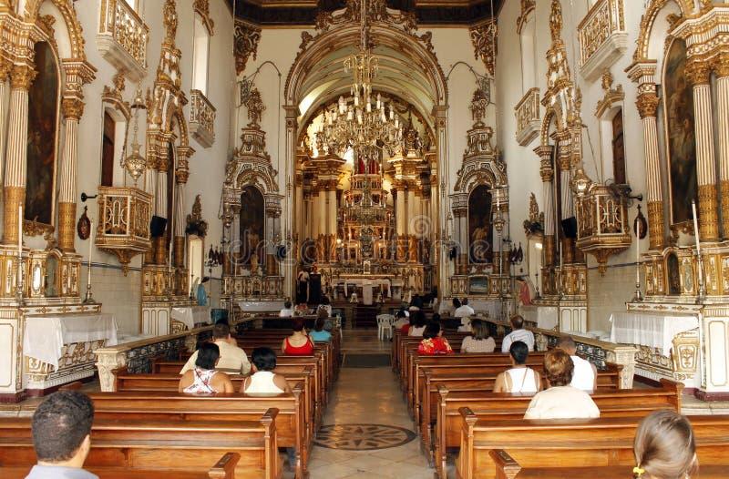 De Kerk van Bonfim - Salvador, Bahia, Brazilië stock afbeelding