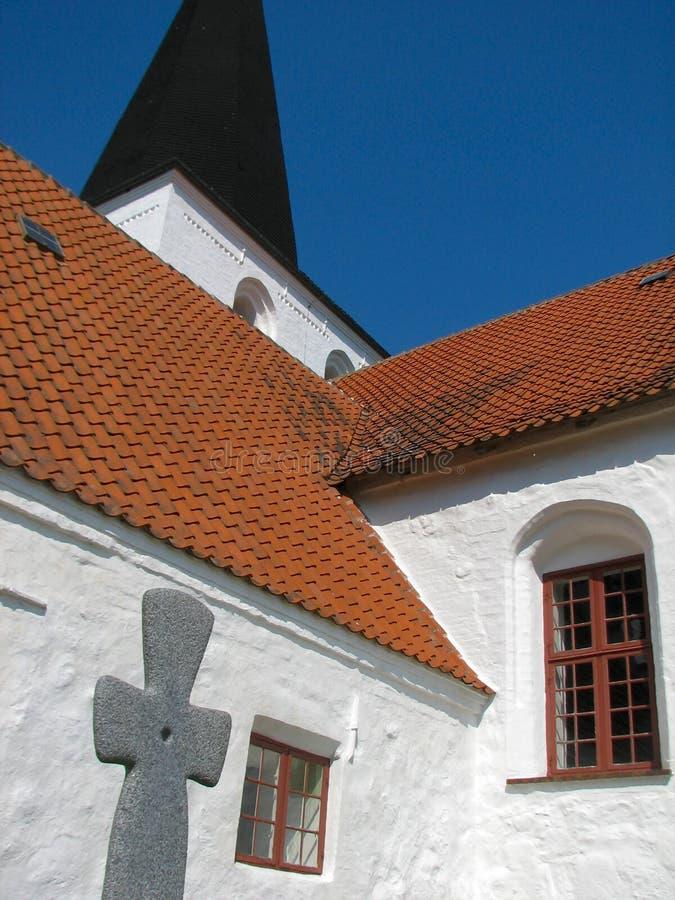 De Kerk van Bregninge royalty-vrije stock afbeelding