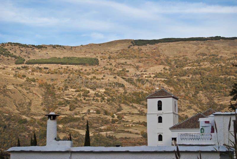 De Kerk van Bubión en open haard, Alpujarra stock foto's