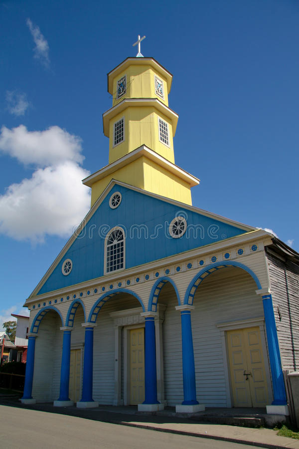 De kerk van Chiloe royalty-vrije stock afbeeldingen